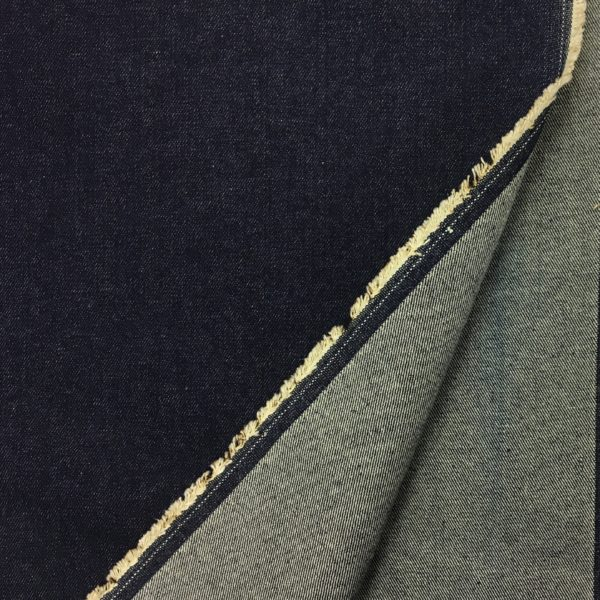 100% Cotton Heavyweight Woven Twill Denim - Indigo