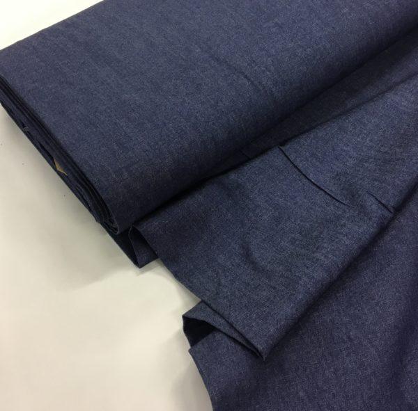 100% Cotton Lightweight Chambray -Dark Blue