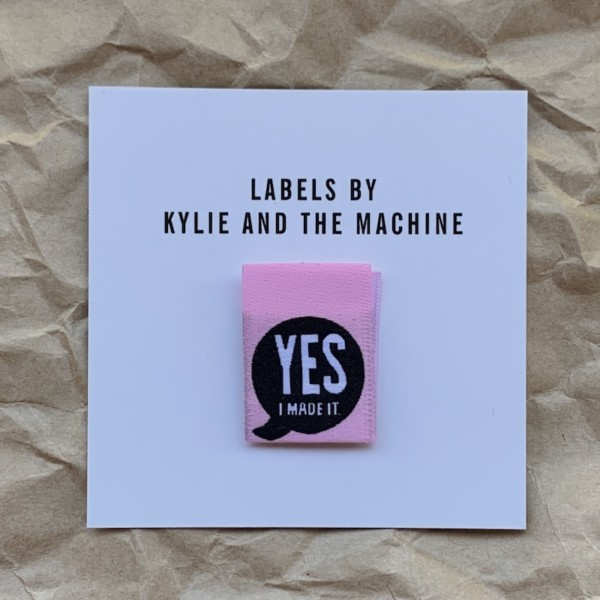 Pack of 8 Woven Sewing Labels by Kylie and the Machine - Yes I Made It