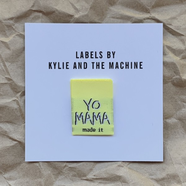 Pack of 8 Woven Sewing Labels by Kylie and the Machine - Yo Mama Made It