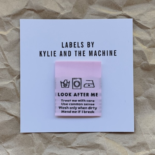 Pack of 8 Woven Sewing Labels by Kylie and the Machine - Look After Me