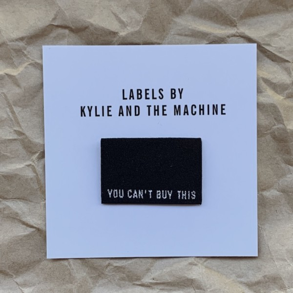 Pack of 8 Woven Sewing Labels by Kylie and the Machine - You Can't Buy This