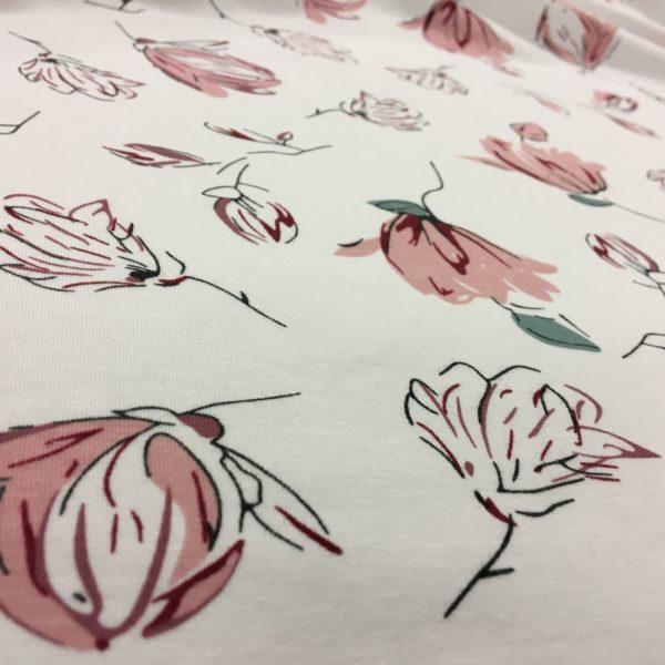 Stof of Denmark Avalana Jersey – Pink Petals