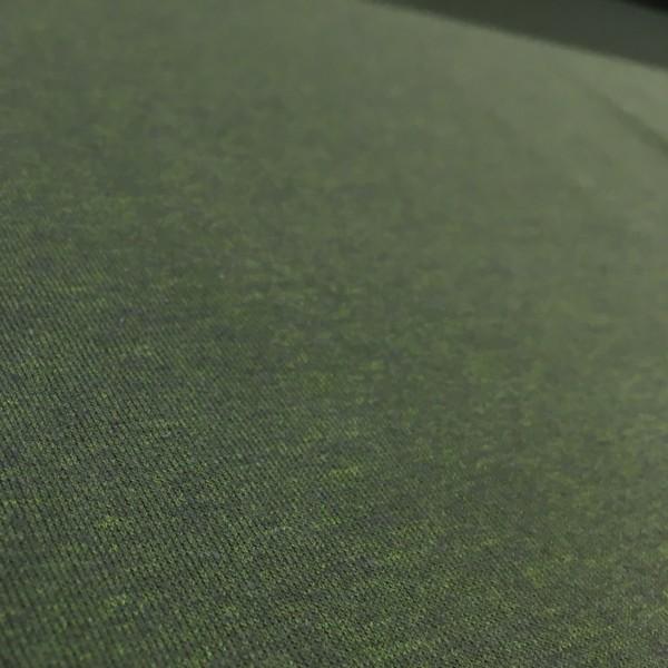 Fleece Back Sweatshirt Jersey - Moss Green Melange