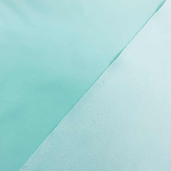 Fleece Backed Soft Shell Fabric - Pale Aqua
