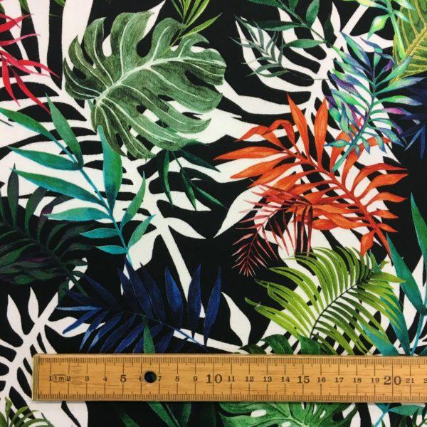Lady McElroy Cotton Spandex Soft Stretch Drill - Jungle Tropics