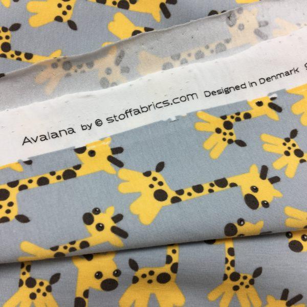 Stof of Denmark Avalana Jersey - Cute Giraffe Print
