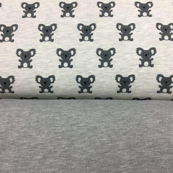 Stof of Denmark Avalana Sweatshirt Melange Jersey - Cute Koala Print
