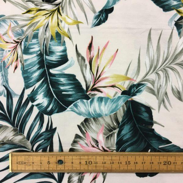 Lady McElroy Soft Viscose Spandex Juliet Jersey - Bajan Palms