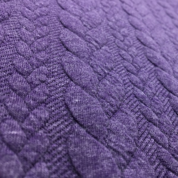 Cable Knit Cloque Jersey - Lilac