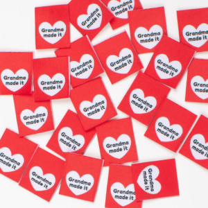 Pack of 8 Woven Sewing Labels by Kylie and the Machine - Grandma Made It