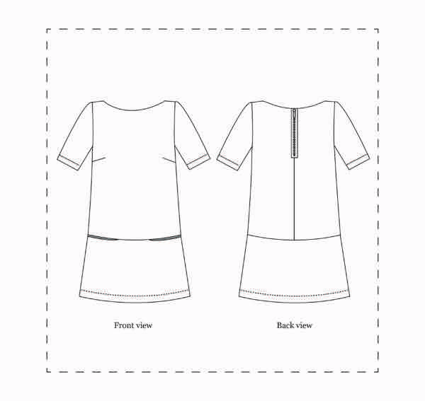 Nina Lee London Carnaby Dress Sewing Pattern