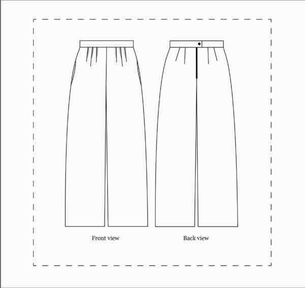 Nina Lee London Portobello Trousers Sewing Pattern