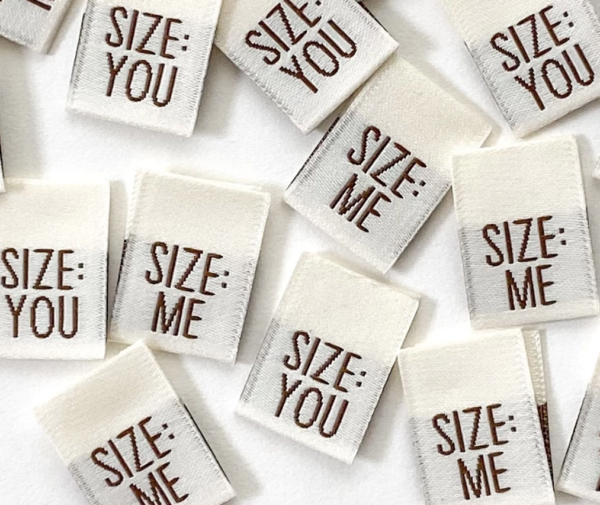 Pack of 8 Woven Sewing Labels by Kylie and the Machine - Size: ME/ Size: YOU