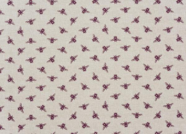 Fryetts Fabrics Bees PVC - Purple