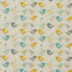 Fryetts Fabrics Birds PVC - Ochre