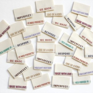 Pack of 8 Woven Sewing Labels by Kylie and the Machine - Limited Edition Metallic Multipack