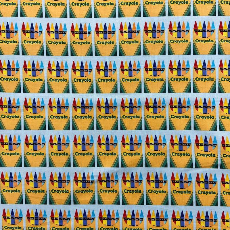 CRAYOLA COLORFULLY CREATIVE CRAYON BOXES FABRIC